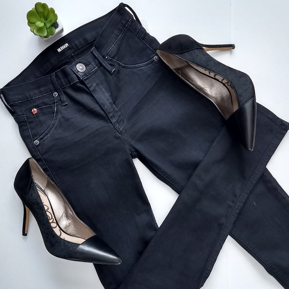 9e8f1bb9 Hudson Jeans Jeans   Hudson Black Lynne High Rise Flap Skinny 24 ...